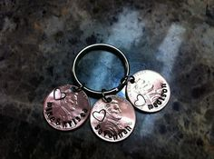 Hand Stamped Penny Keychain by MauiWauiStamping on Etsy