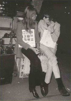 Francois Hardy and Bob Dylan