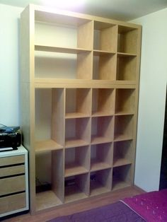 """IKEA Hackers: Old Expedit to """"Closet""""/Storage"""