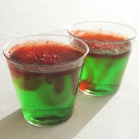 Holiday Jello Shots: A MUST for any real Tacky Christmas Sweater party!  {Hey, have you downloaded the FREE Sweater-izer App yet?  It's awesome fun if you like a tacky Christmas sweater!  Check it out: http://funistheanswer.com/sweater-izer/