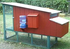 Raising chickens in your backyard in a build your own chicken coop is the best way to get fresh organic eggs. Many people that are looking to raise chickens search for a small or medium sized chicken coop design to Chicken Coop Designs, Chicken Coop Plans, Building A Chicken Coop, Chicken Coops, Chicken Tractors, City Chicken, Chicken Chick, Chicken Houses, Chicken Pen