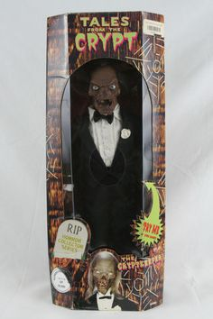 Rip Horror Collector Series Tales From The Crypt Cryptkeeper Talking Doll in box Horror Comics, Horror Films, Horror Icons, Horror Art, Retro Toys, Vintage Toys, Creepy Toys, Scary Dolls, Horror Action Figures