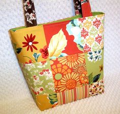 Blossom Bohemian Patchwork Purse Urban Chiks fabric by BizzieLizzie Handmade Bags on Etsy, $60.00