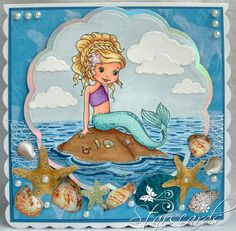 Star's Cards: Beautiful Mermaid - The Paper Shelter
