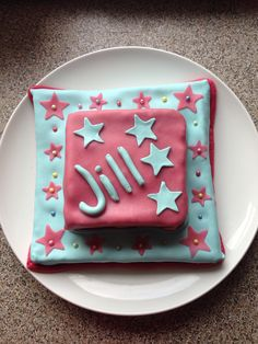 Jill - 4 jaar Marsepeintaart