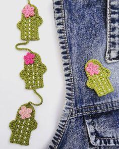 Hecho Con Dulce Amor: Mini Cactus de Crochet