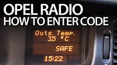 How to #unlock #Opel #radio (SAFE Philips CCR 600) #SAFE #Vectra #Astra #Zafira #Cars