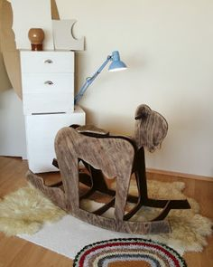 I had to pin it... man cave stuff here....Pony Girl Rocker - An 'Adult' Take on the Rocking Chair