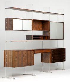 Poul Norreklit Danish Modern Selectform wall unit : Lot 1065