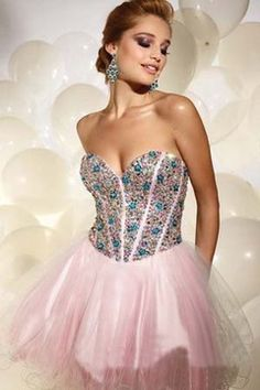 2014 New Arrival Homecoming Dresses Sweetheart  A Line  Short/Mini Tulle With Rhinestones
