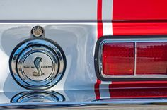 Car Tail Light Images by Jill Reger - Images of Tail Lights - Car Taillight Images - 1968 Ford Mustang Fastback 427 Ci