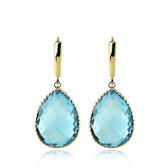 #swiss #bluetopaz is our #gem of the #day. These #beautiful #blue #topaz #gemstone #earrings are my personal #fav! #large and in charge. Did you know that topaz is the state stone of #Texas? Everything's bigger in Texas!  we make #jewelry  www.amazinite.com