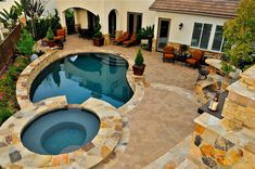 Amazing small backyard designs with swimming pool(25)