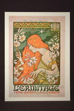French Poster Mucha Style Print Art Nouveau Wall Art