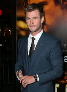Chris Hemsworth looked especially handsome at Thursday night's Blackhat premiere in LA.