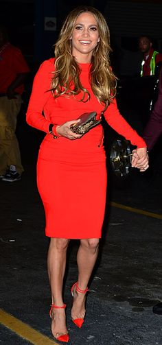 J.Lo in Red