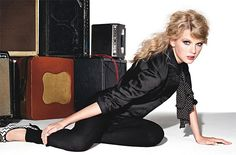 Taylor Swift in a Jason Wu top, L'Agence leggings, and Christian Louboutin shoes