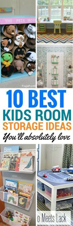 10 Kids Room Ideas And Storage Solutions For Both Girls And Boys - Cheap and cool ways to make your kids room organized and look great. These DIY Projects are perfect for you if you're looking to organize your home! Organization Ideas For The Home