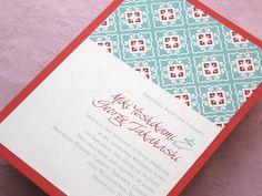 Asian Wedding Invitation Chinese Japanese | Imbue You Wedding