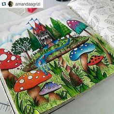 Instagram media desenhoscolorir - Fundo lindo e criativo! #Repost @amandaagrizi with @repostapp ・・・#desenhoscolorir #florestaencantada #enchantedforest #jardimsecreto #johannabasford