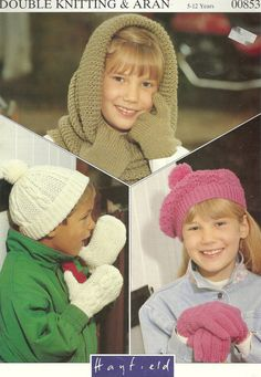 Great variety of children's hats and mittens knitting patterns!