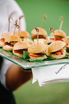 Mini burgers - yes please! Catering by Townsend Catering. Party Catering, Catering Food, Catering Platters, Tapas, Mini Burgers, Reception Food, Party Snacks, Food Presentation, Diy Food