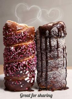 "This photo was made by my lovely customers in London ""Chimney cake bakers""... Makes our sweet kurtos look divine...."