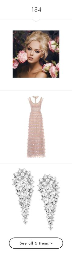 """""""184"""" by pocahaunted666 ❤ liked on Polyvore featuring people, faces, models, dresses, midi & long, neutrals, pink sleeveless dress, valentino dress, long pink dress and long cocktail dresses"""