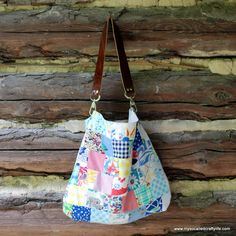 Sweet Vintage Scrappy Patchwork Tote   My So Called Crafty Life