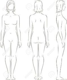 Image Drawing Female Body Woman Illustration Sketches Outline Figure Sketching