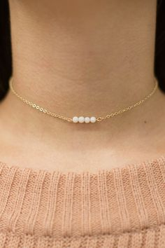 This adorable choker is sure to add a delicate detail to all of your favorite outfits!