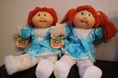 Vtg Dolls Cabbage Patch Red-Headed Twins HTF Unboxed Rare Ginger Poupee 1985 Xavier Roberts 1985 Blue Signature Coleco P Factory Vintage Cabbage Patch Dolls, Cabbage Patch Kids Dolls, Child Doll, Girl Dolls, Baby Dolls, Pimple Cream, Xavier Roberts, Kids Hands, Childhood Toys