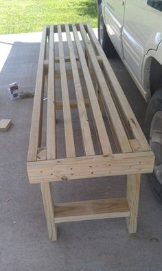 Ideas Diy Wood Chair Garden Benches For 2019 Outside Furniture, Pallet Furniture, Furniture Projects, Diy Wood Projects, Home Projects, Wood Crafts, 2x4 Bench, Bench Seat, 2x4 Table