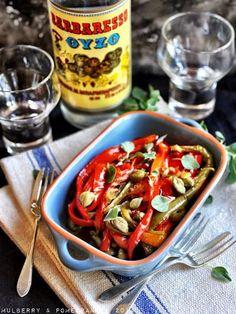 Greek style stewed florina peppers