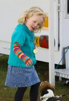 Savannah Phillips, the daughter of Peter and Autumn Phillips and the Great granddaughter of the Queen at The Land Rover Horse trails at Gatcombe Park, Gloucestershire, 22.03.14