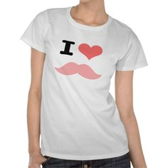 I Love Mustaches Tees