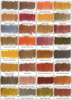 Sepia-toned ink comparisons.