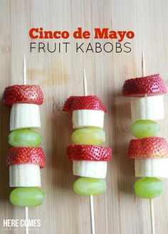 Cinco de Mayo fruit kabobs are the perfect party food for your fiesta!