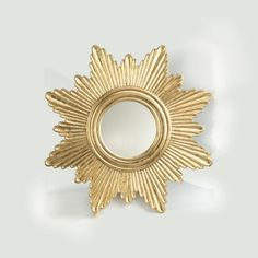 Gold Leafed Starburst Mirror