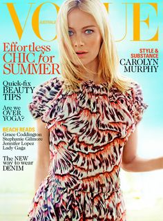 Carolyn Murphy - Vogue Australia January 2013