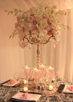 centerpiece. no link to the picture but beautiful and good idea @Becky Hui Chan Beaver