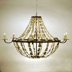 Coastal chandeliers we love coastal chandeliers hanging lights empire 32 x 42 shell chandelier mozeypictures Images