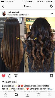 Dark bayalage - All For Hair Color Balayage Brown Hair Balayage, Balayage Brunette, Hair Color Balayage, Brunette Hair, Hair Highlights, Hair Color And Cut, Hair Colour, Hair Painting, Hair Dos