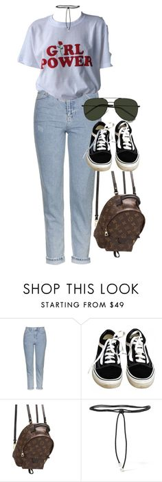 """""""Sem título #1371"""" by oh-its-anna ❤ liked on Polyvore featuring Topshop, Vans, Louis Vuitton, Aamaya by Priyanka and Yves Saint Laurent"""
