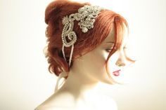 Vintage style wedding headpiece or side tiara by MillieICARO, $359.00