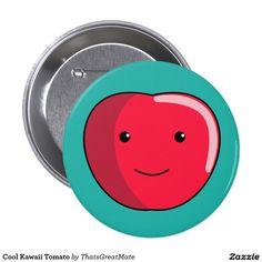 Cool Kawaii Tomato Button