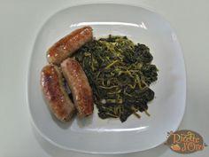 Salsicce e Friarielli,piatto tipico di tradizione napoletana,dal gusto amarognolo e deciso,come contorno, in un primo piatto o come pizza
