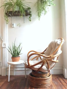 my parents used to have a bunch of these!  Vintage Bamboo Swivel Rocking Chair and by QuinnVintageandFound