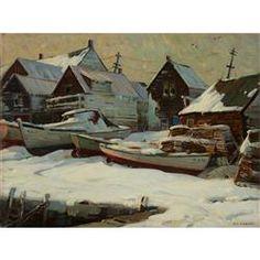 ALDRO THOMPSON HIBBARD, (AMERICAN 1886-1972), AFTER THE BLIZZARD, 1958