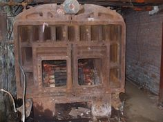 Do you BELIEVE this old furnace?! It used to heat a mansion. #awesome #antique #HVAC